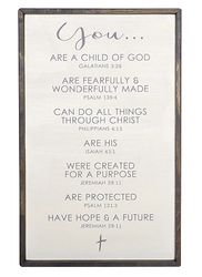 Affirmation Framed Christian Wall Sign