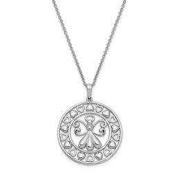 "Angel On Assignment Sterling Silver CZ 18"" Necklace"