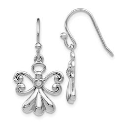 Angel On Assignment Sterling Silver CZ Earrings