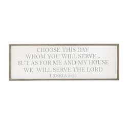 As For Me And My House Framed Christian Wall Sign