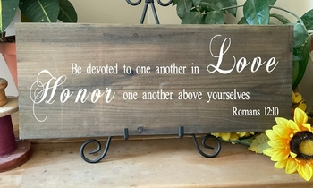 Be Devoted To One Another Christian Wall Decor