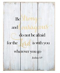 Be Strong And Courageous Wood Pallet Sign