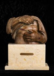 Believe - Limited Edition Bronze Christian Sculpture by Delbert Satterfield