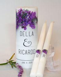 BOUGAINVILLEA WEDDING UNITY CANDLE SET