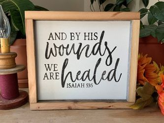 And By His Wounds We Are Healed Christian Wall Decor
