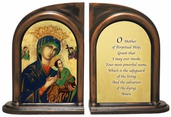 Mother Of Perpetual Help Bookends
