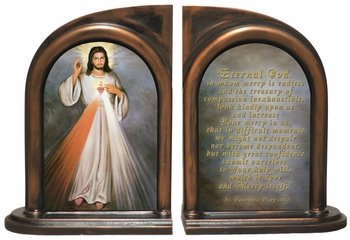Divine Mercy With Sacred Heart Bookends