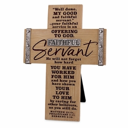 Faithful Servant Cross - Christian Home Decor