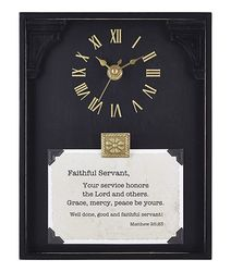 Faithful Servant Framed Table Clock
