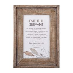Faithful Servant Framed Pastor Appreciation Wall Art