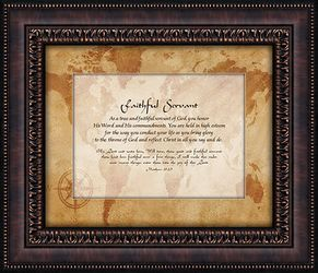 Faithful Servant Framed Wall Decor