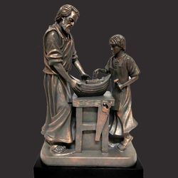 Father's Instruction Christian Sculpture by Timothy Schmalz