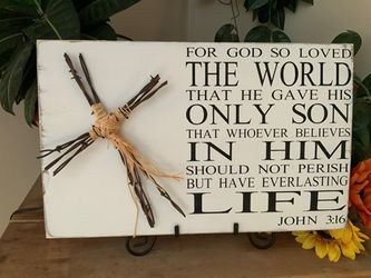 For God So Loved The World Christian Wall Decor