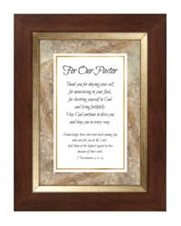 For Our Pastor Framed Tabletop Home Decor