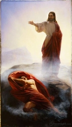 Get Thee Hence Satan by Carl Bloch - 4 Sizes Available