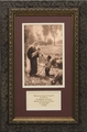 Gift of the Shepherd with Prayer - Framed Christian Art