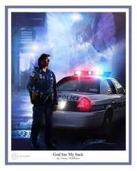 God Has My Back - Policewoman by Danny Hahlbohm - Christian Art