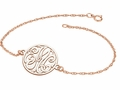 GOLD PERSONALIZED MONOGRAM BRACELET - Yellow, white or rose gold