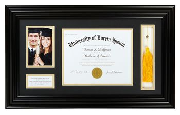 Graduation Photo Frame Black