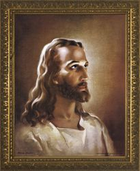 Head Of Christ by Warner Sallman - 4 Gold Framed Sizes Available
