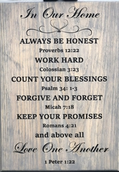 In Our Home Bible Verse Wall Sign
