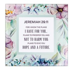 Jeremiah 29:11 Framed Tabletop Christian Home Decor