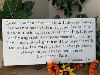 Love Is Patient, Love Is Kind Christian Wall Decor