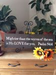 Mightier Than The Waves Christian Wall Decor