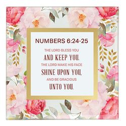 Numbers 6:24-25 Framed Tabletop Christian Home Decor