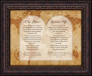 Our Pastor & Devoted Wife Framed Wall Decor Christian Verses