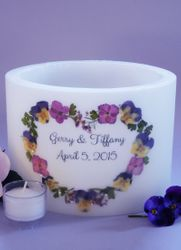 Pansy Heart Lantern - 2 Sizes Available