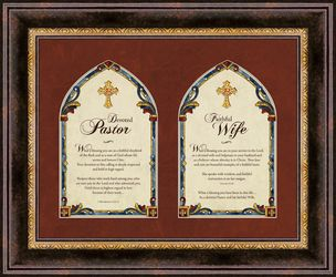 Pastor And Pastor's Wife Framed Christian Wall Art