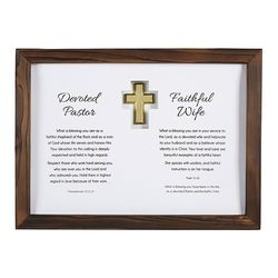 Pastor And Wife Framed Appreciation Gift