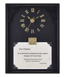 Pastor Framed Table Clock