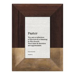 Pastor Framed Tabletop Christian Home Decor