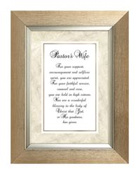 Pastor's Wife Framed Christian Home Decor