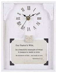 Pastor's Wife Framed Table Clock