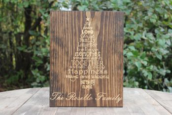 Personalized Laser Engraved Christmas Tree Quote Sign