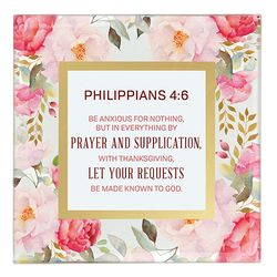 Philippians 4:6 Framed Tabletop Christian Home Decor