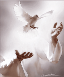 Receiving The Spirit by Danny Hahlbohm - Unframed Christian Art