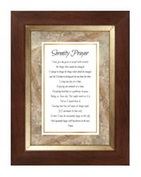 Serenity Prayer Framed Tabletop Christian Verses