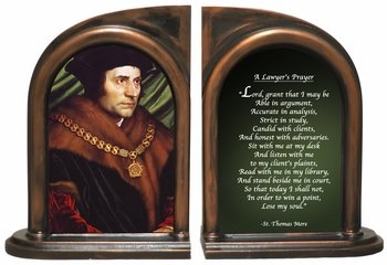 St. Thomas More/Lawyers Prayer Bookends