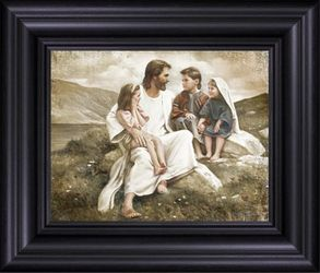 Story Time In Galilee by Del Parson - 9 Framed & Unframed Options