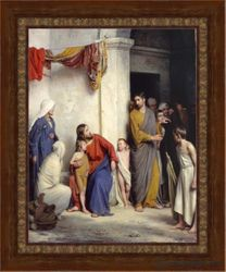 Suffer The Children To Come Unto Me by Carl Bloch - 8 Options Available