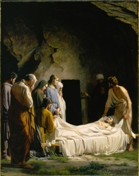 The Burial Of Jesus by Carl Bloch - 4 Unframed Canvas Options