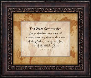 The Great Commission Framed Wall Decor