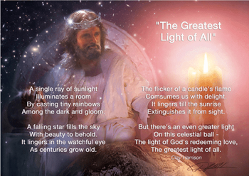 The Greatest Light Of All by Danny Hahlbohm