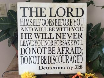 The Lord Himself Goes Before You Christian Wall Decor