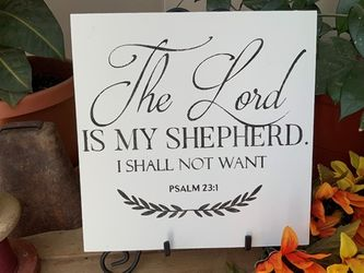 The Lord Is My Shepherd Christian Wall Decor