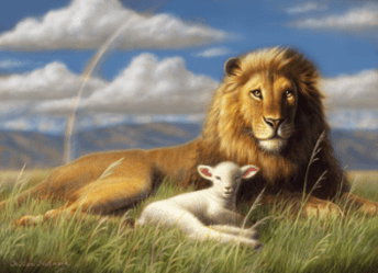 The Lion And Lamb by William Hallmark - 5 Unframed Options
